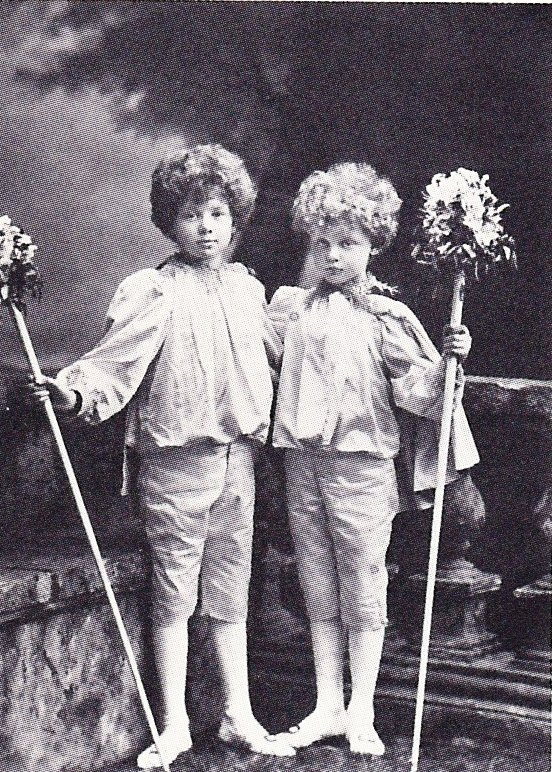 Julian and Billy as pages, 1897