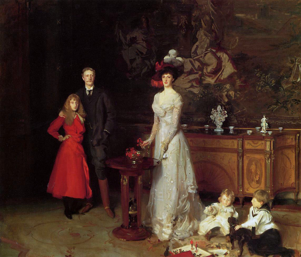 The Sitwell Family (Osbert is in the Sailor Suit), by John Singer Sargent, 1900
