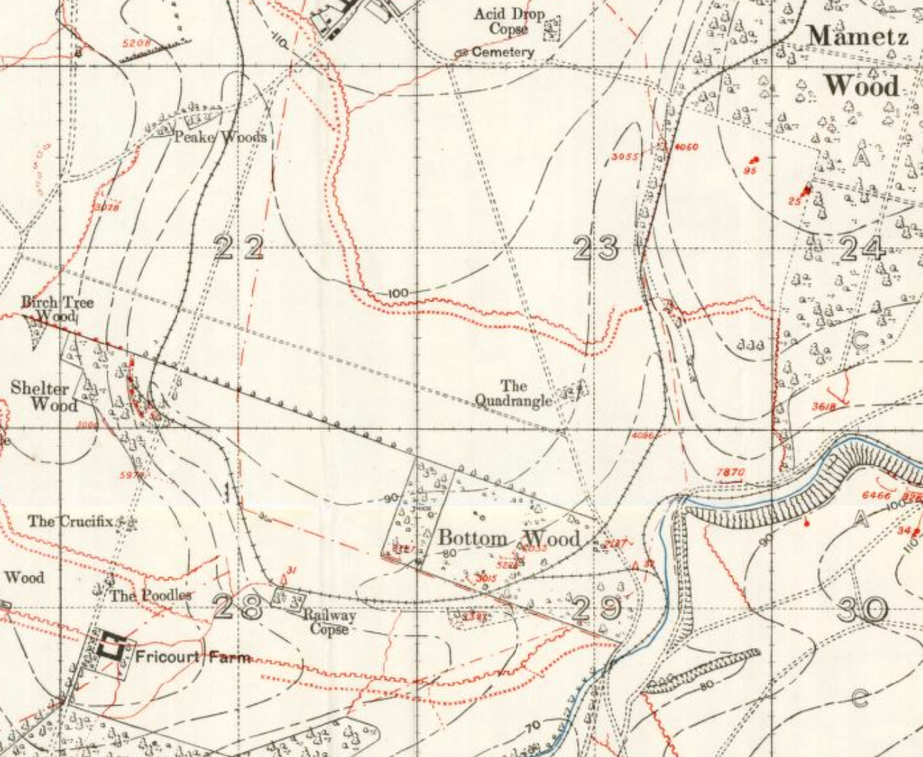 Mametz Wood, before